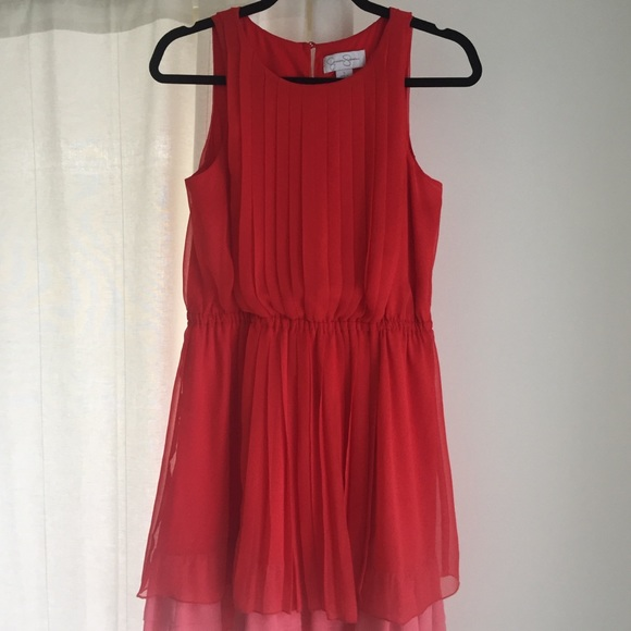 Jessica Simpson Coral Summer Cocktail Dress.